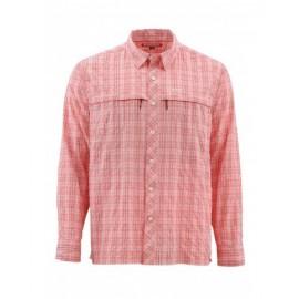 Stone Cold Ls Shirt Dk Coral Plaid