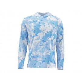 Solarflex Hoody Print - Cloud Camo Blue