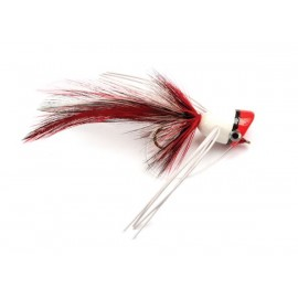 Bass Popper Red/white