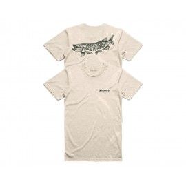 T-Shirt Muskie - Oatmeal Heather