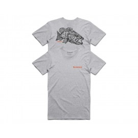T-Shirt Stockton Red Eye Smallie - Grey Heather