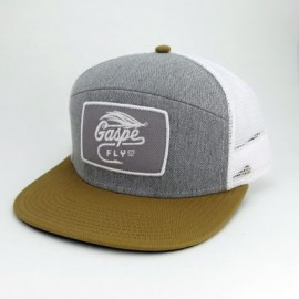 Casquette High Crown - Gris Heather/Blanc