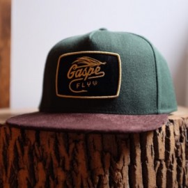 Casquette High Crown Vert Forêt/Tabac