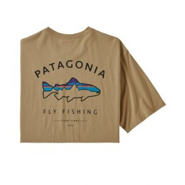 T-Shirt Framed Fitz Roy Trout - Classic Tan