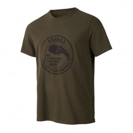 T-Shirt Wildlife Bear - Willow Green