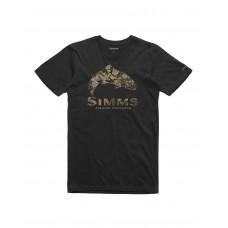 T-Shirt Simms Trout Riparian Camo - Noir